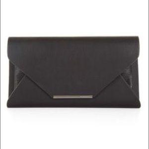 BCBG NWOT Klara Faux-Leather Envelope Clutch